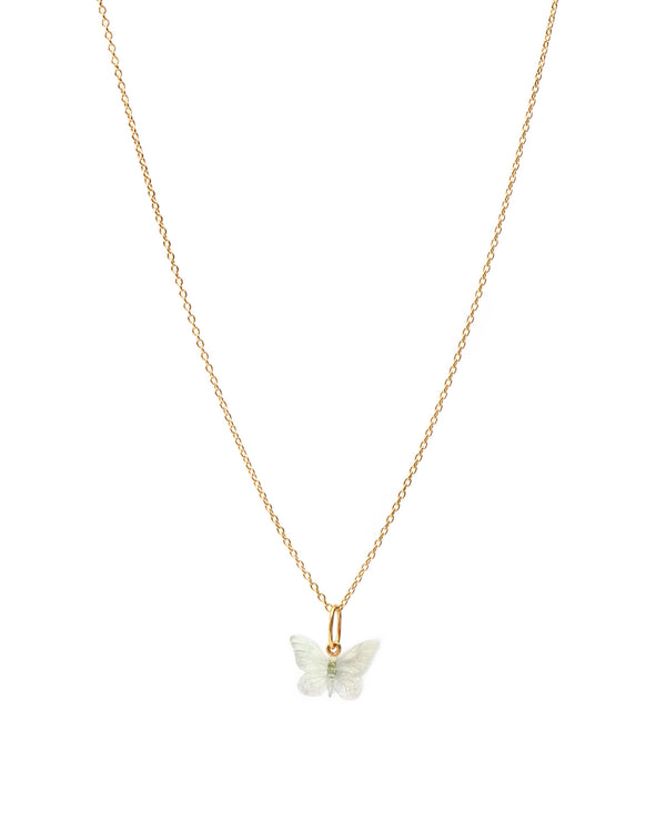 Glasswing Butterfly Ketting - Goud