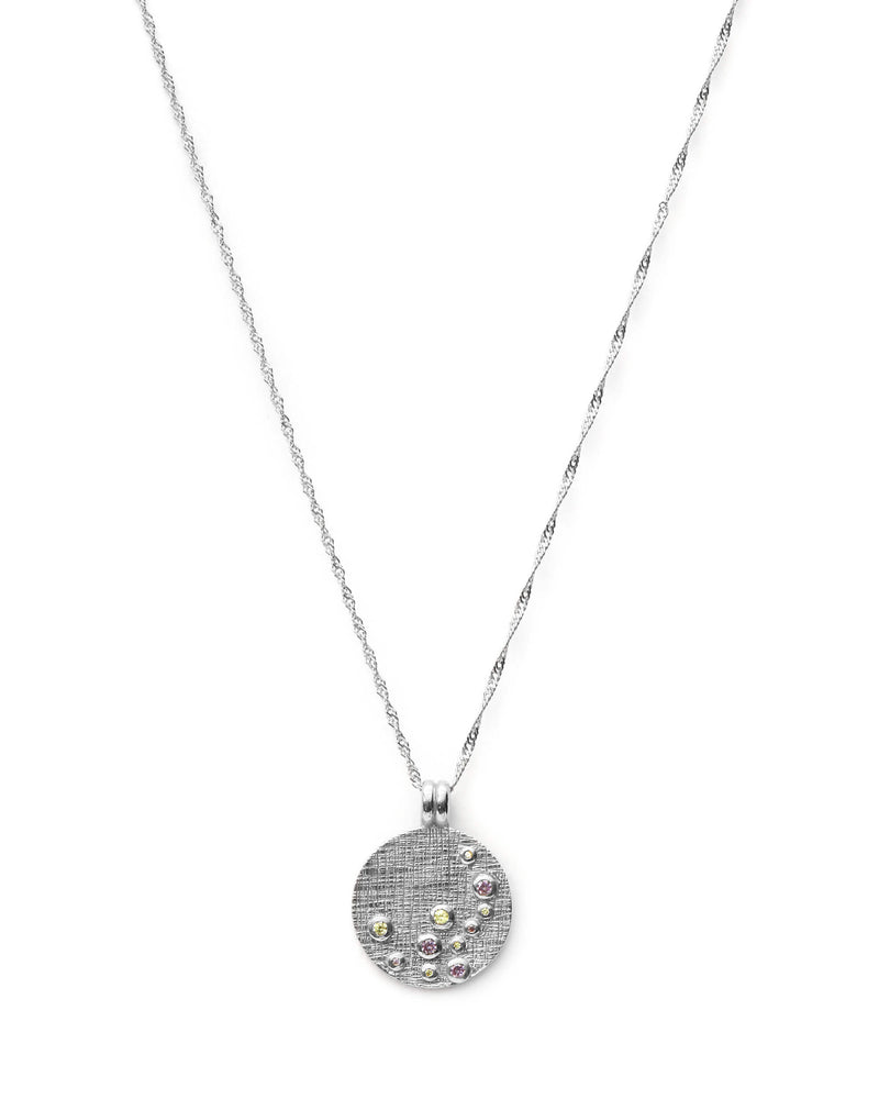Dew Drops Coin Ketting - Zilver