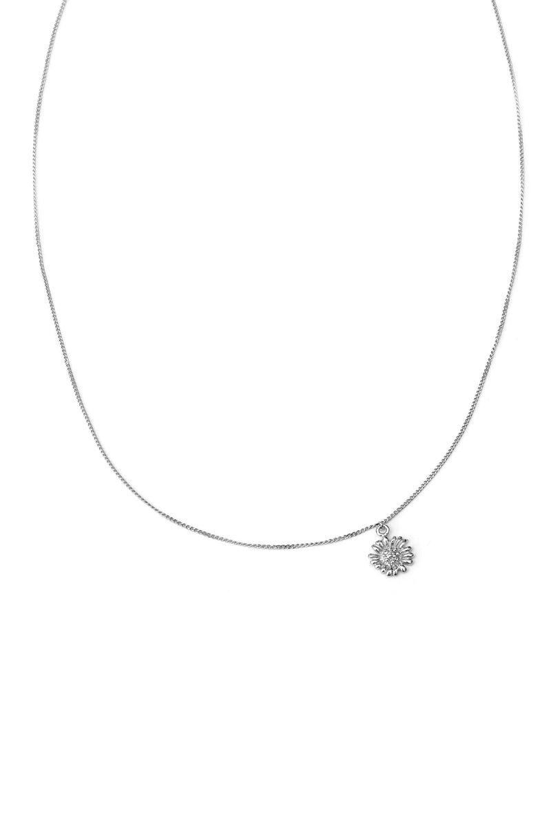 Minimal Chain Daisy Ketting - Zilver