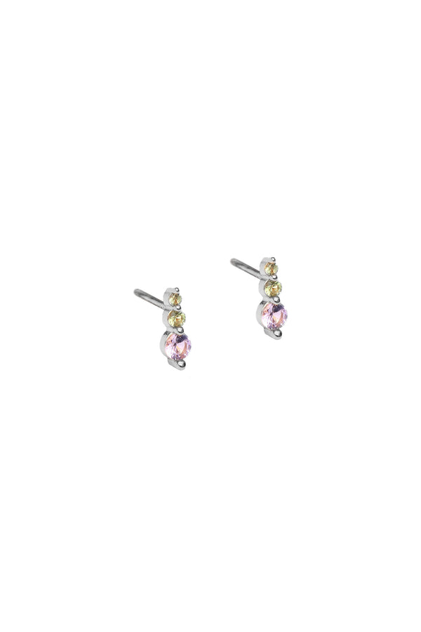 Dew Drops Studs Earrings - Silver
