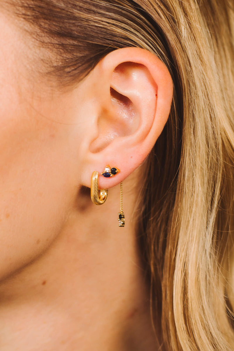 Nightfall Drop Stud Earring 1 piece - Gold