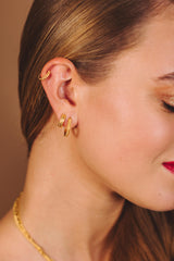 Liana Hoops Earrings 12 mm - Gold