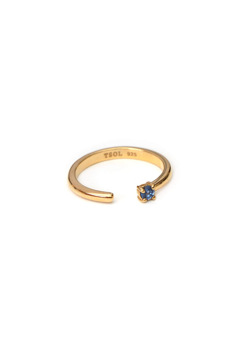 Stardust Sapphire Blue Ring - Gold