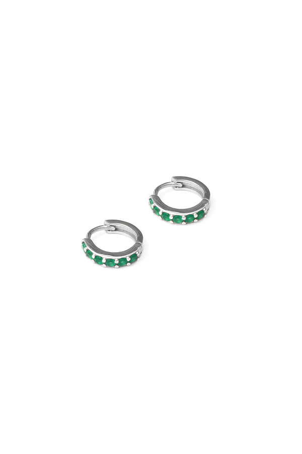 zircon-hugging-hoops-emerald-zilver