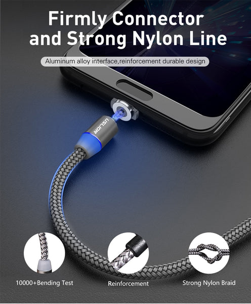 Fast charging magnetic USB cable for Iphone and Android
