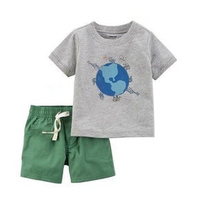 Folivora Little Boys Clothes Suit Summer Baby Sloth Top Pant Outfit For Boy Cotton Infant Clothing Sets Pajamas Sleepwear Soft