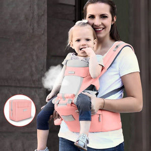 Multi-function Baby Strap Hip Seat Carrier Waist Stool Comfortable Breathable Infant Waist Stool with Adjustable Strap Pocket