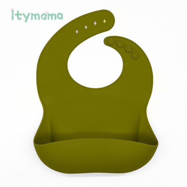 Silicone Breastplate Baby Bib Waterproof Solid Feeding Burp Cloth Drooling Scarf Infant Bandana Bibs For Newborn Baby Stuff