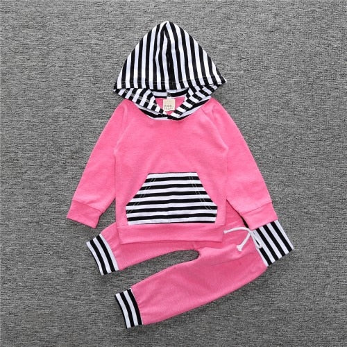 New Baby Clothing Set Boys Long Sleeve Hooded Tops+ Pants + Hat 3 Pcs Newborn Bebe Clothes Set Infant Toddler Clothing