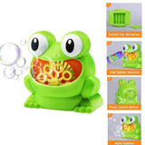 Baby Big Frogs Automatic Bubble Maker Blower Toy Music Children Bathtub Soap Machine Toys Bathtub Soap Making Toys for Children