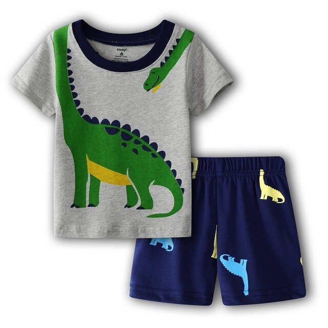 Dinosaur Baby Boys Summer T-Shirts + Shorts Pants 2-Pieces Clothing Set Boy Outfit Cotton 6 9 12 18 24 Month