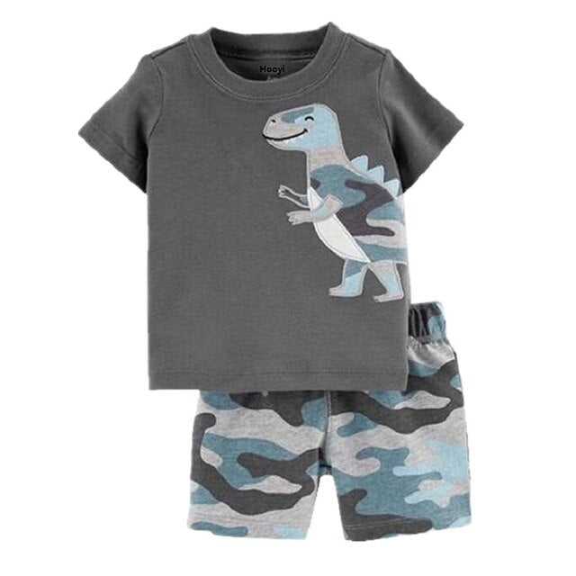 Dinosaur Baby Boy Clothes Set Infant Outfits Cotton Boys T-Shirt + Pant 2-pieces Clothing Suit Toddler Outfit 6 9 12 18 24 Month