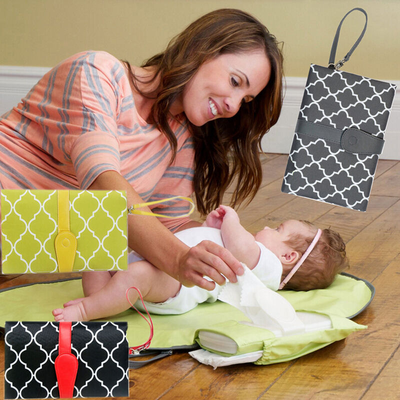 Pudcoco Hot Baby Portable Folding Diaper Changing Pad Waterproof Mat Bag Travel Storage 2 in 1 Changing Pad Covers Waterproof
