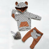 Winter newborn infant boys girls boys baby clothes tops pullover Hoodied Hooded Sweatshirt +pants outfits sport clothing sets