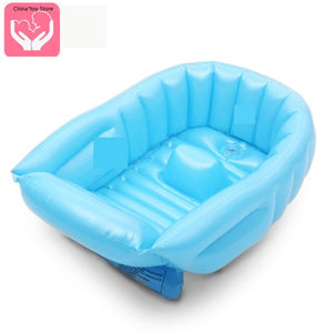 Children's Inflatable Bathtub Toiletries Easy To Store Thickened Newborn Baby Bathtub Can Sit and Lay Baby Bathtub