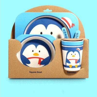 1set Children's Dishes For Games Food Grade Fork Cup Chicken Food Supplement Cartoon Baby Feeding Plate Tableware For Kids Gifts