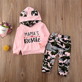2PCS Toddler Baby Girl Outfits Hoodies Camouflage Clothes Camo Hooded Tops Long Pants Tracksuit Baby Clothing