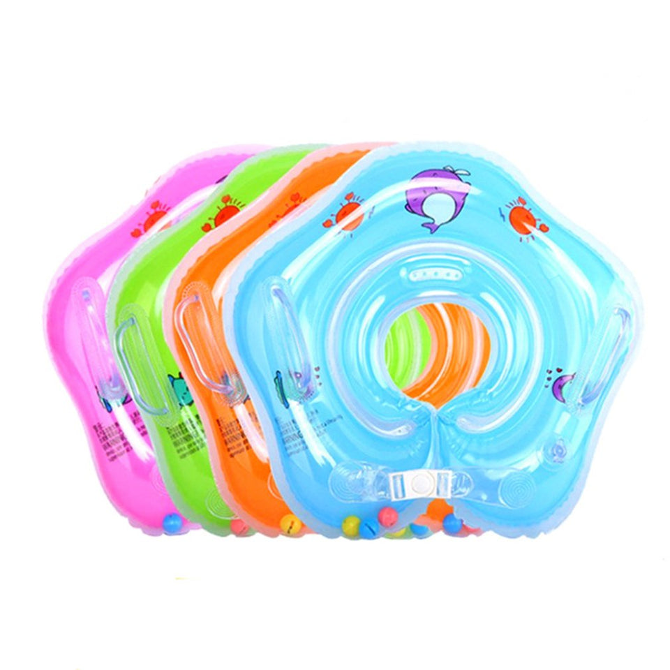 Inflatable Baby Bath Swimming Neck Float Adjustable Safety Aids Circle Baby Swimming Neck Ring Baby Swimming Accessories