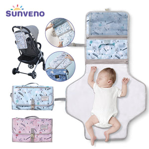Sunveno Baby Changing Mat Portable Foldable Washable Waterproof Mattress Changing Pad Mats Reusable Travel Pad Diaper