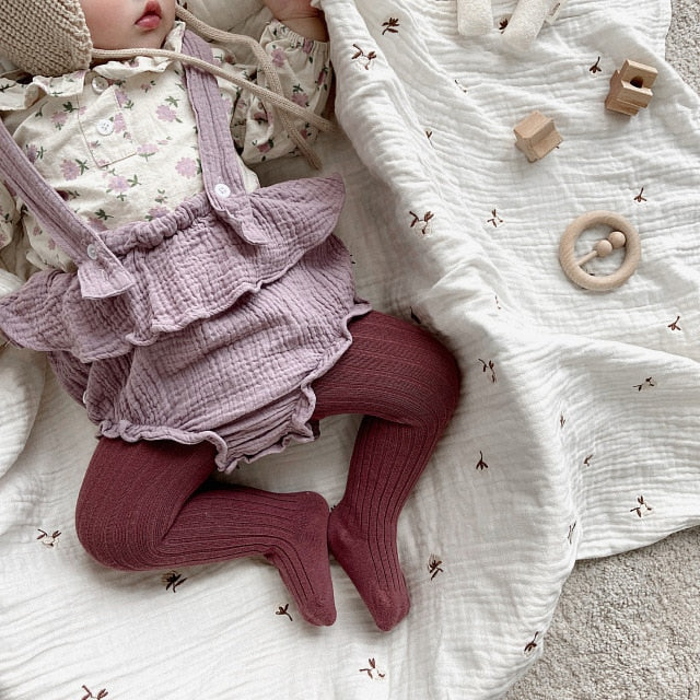 Baby Girl Clothes 2020 Autumn New 2 Piece Suit Floral Shirt + Suspender Romper Fashion Cotton Girl's Autumn Clothing Set