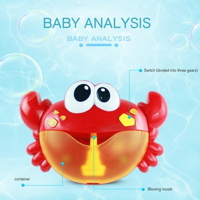New Bubble Machine Tub Big Crab Frog Octopus Automatic Bubble Maker Blower Toys With Music Song Bath Toy For Baby Boys Girls