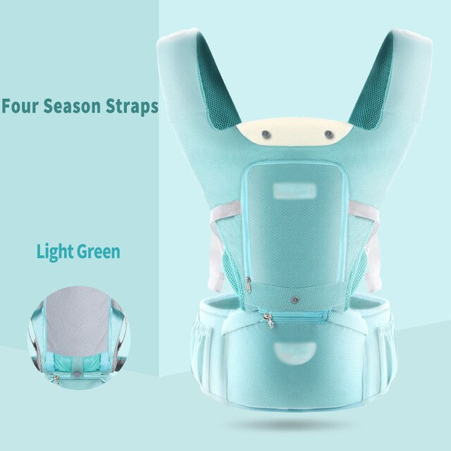 0-48M Baby Carrier Waist Stool Newborn Walkers Cotton Mesh 4 Seasons Backpack Hipseat Travel Front Facing Pouch Wrap