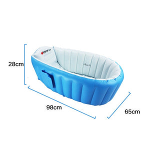 Baby Inflatable Bath Tub PVC Tubs Shower Set Portable Children 's Household Small Supplies  Newborn Products
