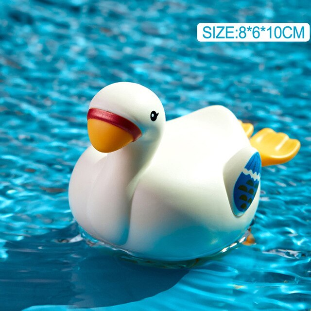 Baby Toys 0 12 Months for Bathroom Swimming Pool Clockwork Crab Frog Duck Bath Toys for Kids One Year Old Wind-up Chain Juguetes
