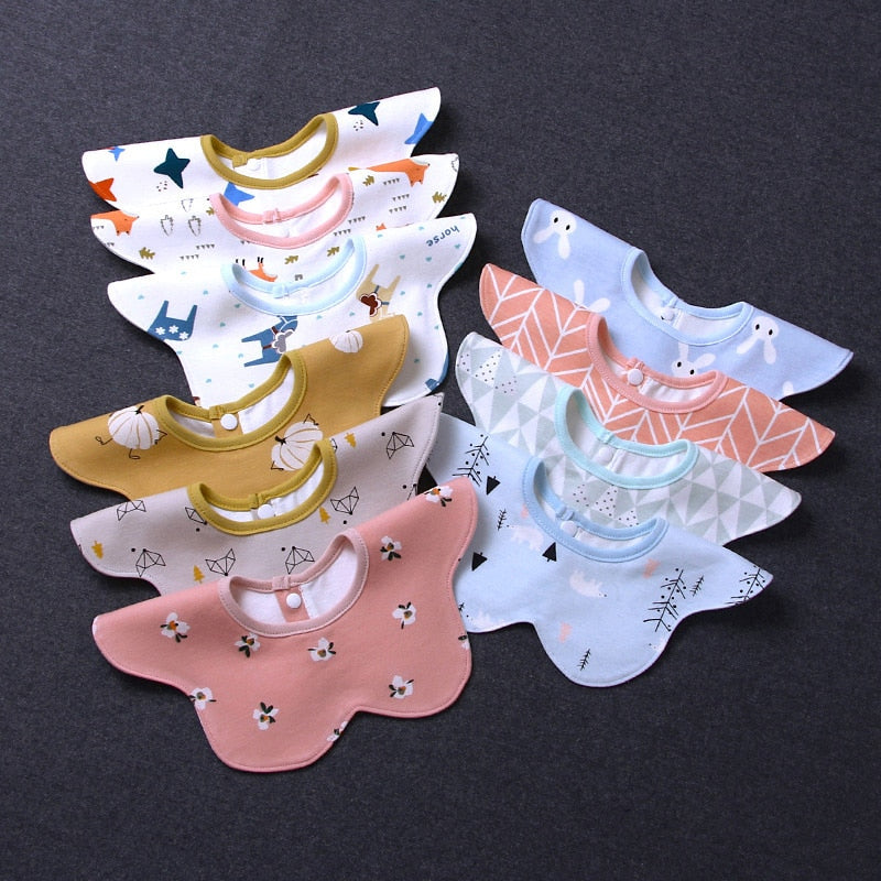 Baby Scarf Newborn Baby Bibs Bandana Feeding Bibs 360 Cotton Waterproof Printing Accessories Infant Nursing WWD001