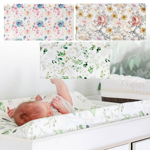 Soft Changing Pad Cover Unisex Diaper Changing Mat Table Sheets Removable Changing Table Mat Cover For Baby Girls
