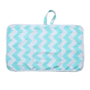 cotton TPU polyester washable fashion style quilted waterproof baby changing mat diaper changing pad