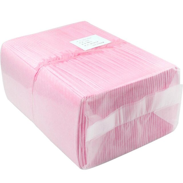 100pcs Portable Baby Infant Disposable Diaper Nappy Urine Mat Kid Waterproof Bedding Changing Pads Covers 33cm x 45cm Blue Pink