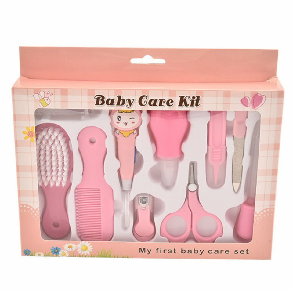 Mother And Baby Supplies Neutral / Baby Care Gift Box Creative Children Nail Clippers Baby Care Scissors Comb10Pcs Set
