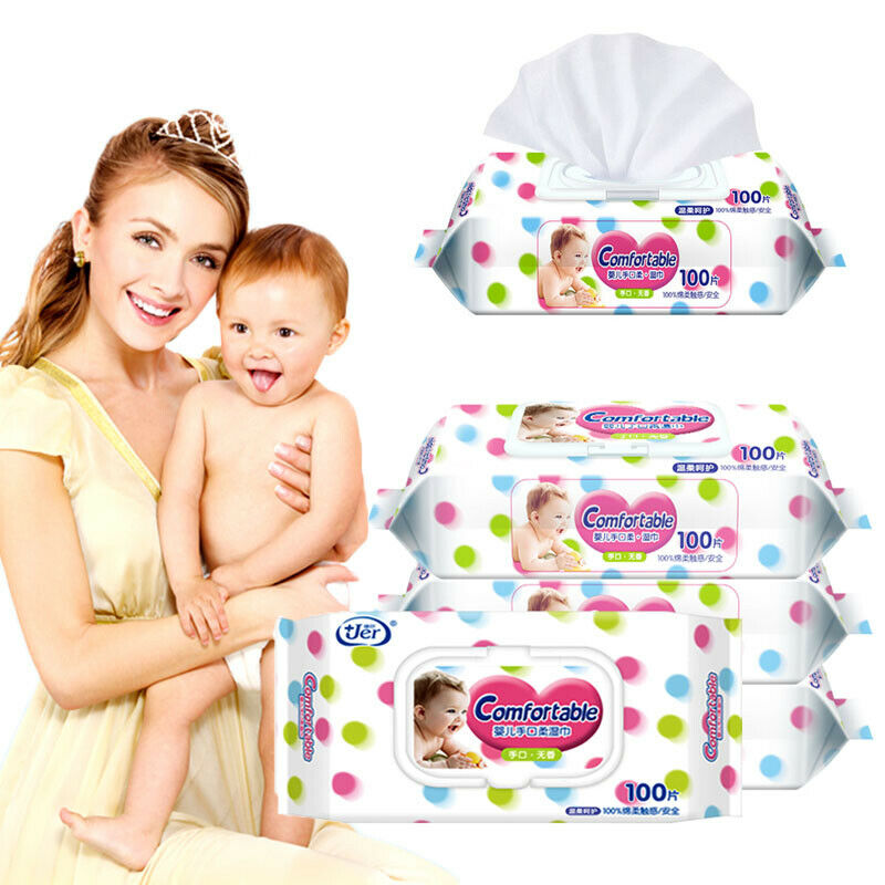 Water Wipes Natural Baby Nappy Wipes Chemical Free (100 Wipes)
