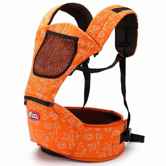 Cartoon Adjustable Baby Carrier Backpack Infant Baby Hipseat Sling Front Carry Ergonomic Baby Wrap Carrier for Travel 3-30Months