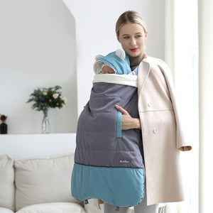 Warm Baby Carrier Cloak Mantle Cover Winter Kangaroo Infant Windproof Strap Hug Quilt For Waist Stool Stroller Accessories