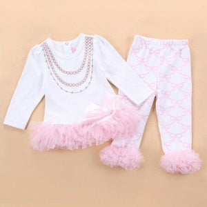 "For 22"" Reborn Baby Girl Doll Clothes Newborn Clothing Fancy Dress Outfit  Baby Clothes  O-Neck  Pullover  Cotton  Unisex"