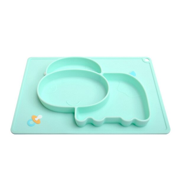 Creative Food Grade Silicone Baby Feeding Dishes Suction Cup Infant Cartoon Learning Bowl Placemat Infant Feeding Bowls