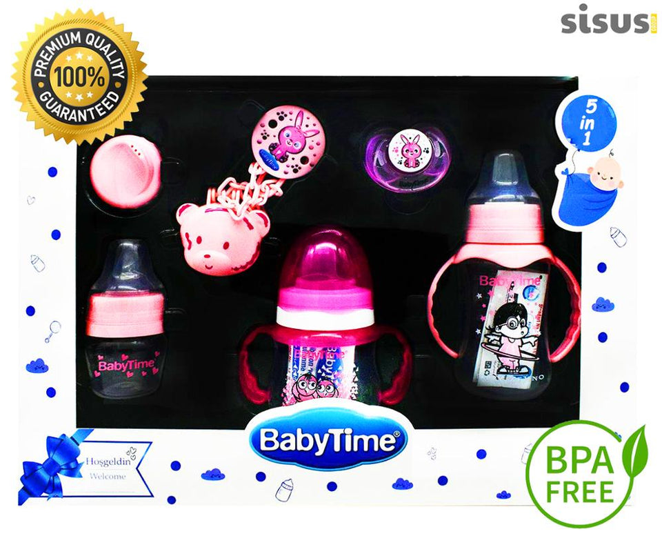 Baby Feeding Bottle Newborn Set 5 in 1 Breastmilk Container Water Safe Silicone For Milk Kids BPA Free Welcome Gift Boy And Girl