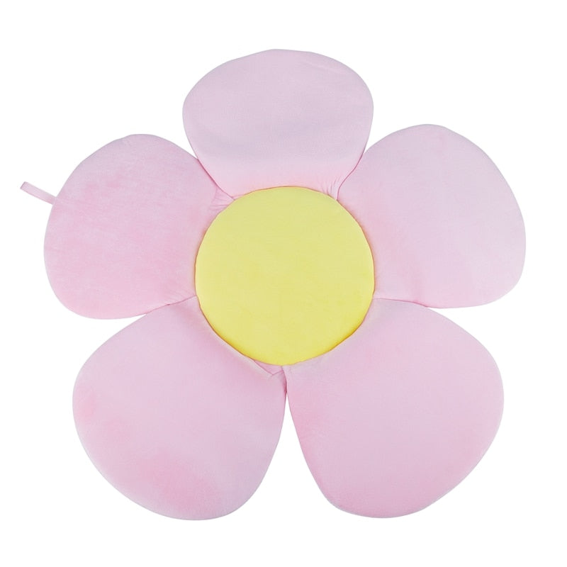 Multifunction Baby Bath Tub Newborn Foldable Blooming Flower Shape Mat Soft Blanket Infant Bathtub Seat Sunflower Cushion Mat