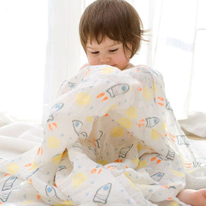 Baby Bath Towel Infant Soft Gauze Wrap Towel Blanket children's Breathable Soft Bath Towels Baby Supplies Baby Bath Towel
