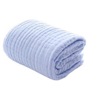 Baby Bath Towels Muslin Washcloths,Super Soft and Absorbent 6 Layers 100% Medical Grade Natural Cotton Gauze for Sensitive Skin