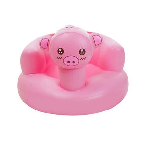 Inflatable Bath Stool Baby Learn to Sit Chair Infant Learn Stool