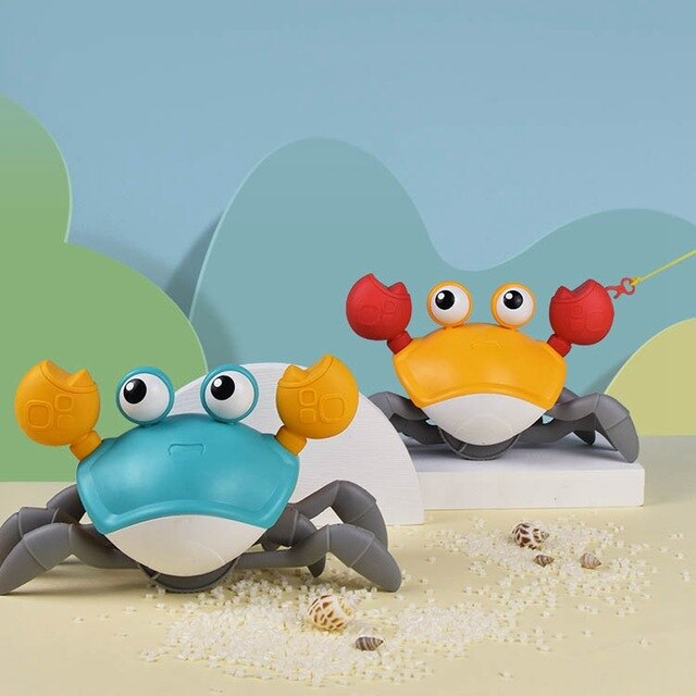 2PCS Bath Toys Big Crab Clockwork Baby Infant Water Classic Toy Beach Toys Summer Toys