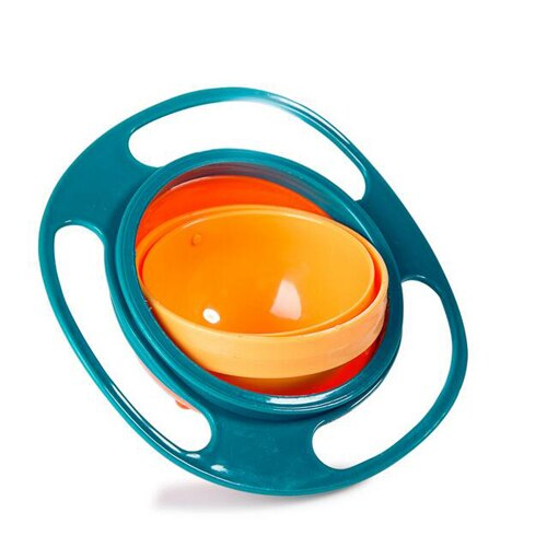 Baby Feeding Dishes Dinnerware Gyro Bowl Funny Toy Universal 360 Rotate Spill-Proof Dishes Children's Baby Tableware