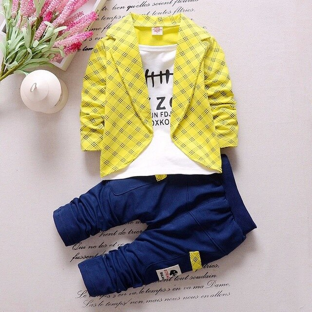 Baby Boy Clothes Fashion Leisure Long Sleeved T-shirt Tops + Pants Baby Girl Outfits Infant Clothing Kids Bebes Jogging Suits