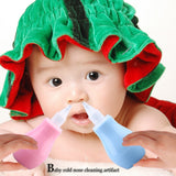 Silicone Newborn Baby Children Nose Aspirator Toddler Nose Cleaner Infant Snot Vacuum Sucker Soft Tip Cleaner Baby Care Products