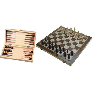 Schaak/backgammon ingelegd 29cm The Gamekeeper Spel