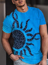 Men's Sun Totem Painting Print T-shirt
