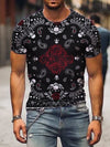 Men's Paisley Painting Print T-shirt